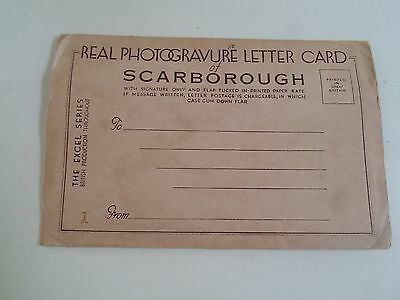 VINTAGE Real Photogravure Lettercard of SCARBOROUGH (6 Images)