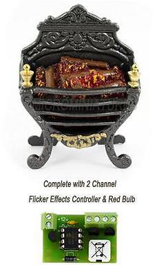 Log Fire Grate with Electronic Flicker Controller (00980)