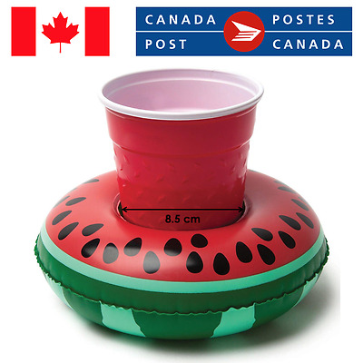 INFLATABLE CUP HOLDER Watermelon Cute Summer Party Floating Can Pool Bath Drink