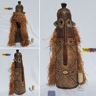 AUTHENTIC Bapende Pende Pumbu Mask Figure Statue Sculpture Fine African Art