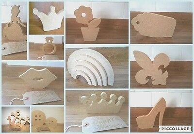 Free Standing Wooden MDF Shapes 12cm-20cm - 18mm  - HUGE choice of designs