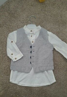 Zara Kids Grey Tailored Smart Formal Waistcoat & Trousers Outfit Age 2-3