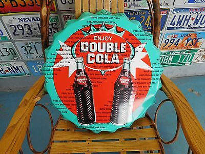 Double Cola Bottle Cap Sign