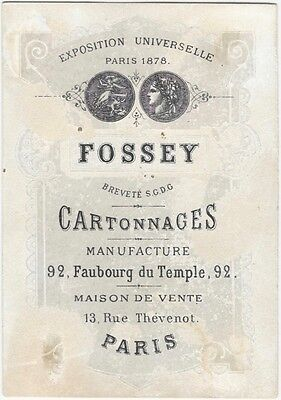 1880s Trade Card for a French Cardboard & Boxes Manufacturer