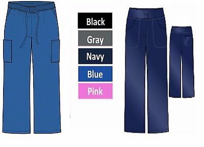 Medical Scrubs STRETCH Solid Pants WRINKLE FREE Sizes XS S M L XL Free Shipping
