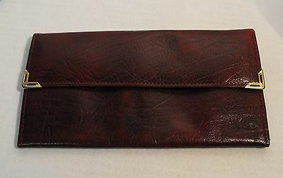 VINTAGE BURGUNDY GAMBETTI CALF Leather WALLET GOOD CONDITION MADE IN ENGLAND