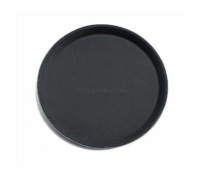 New Star 25217 NSF Plastic Round Rubber Lined Non-Slip Tray 16-Inch Black New