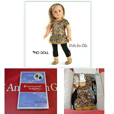 American Girl Golden Sparkle Outfit TRULY ME NEW IN BOX Christmas OUTFIT