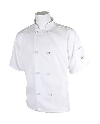 Mercer Culinary M60014WHS Millennia Unisex Short Sleeve Cook Jacket with ... New