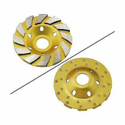 """Ocr TM 4"""" Concrete Turbo Diamond Grinding Cup Wheel for Angle Grinder 12 ... New"""
