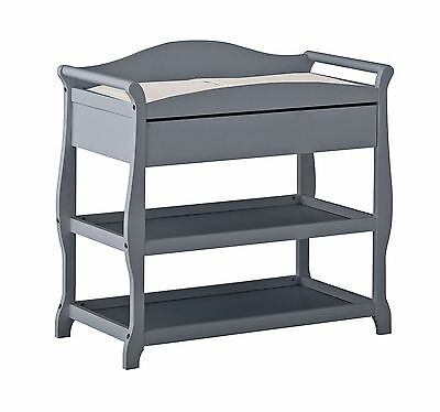 Storkcraft Aspen Changing Table Gray New