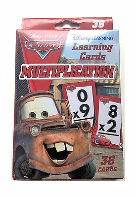 Disney Cars Learning Cards Multiplication 36 Cards New