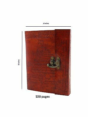 Store Indya Leather Diary Journal Notebook Planner with 100 Unlined Eco-f... New