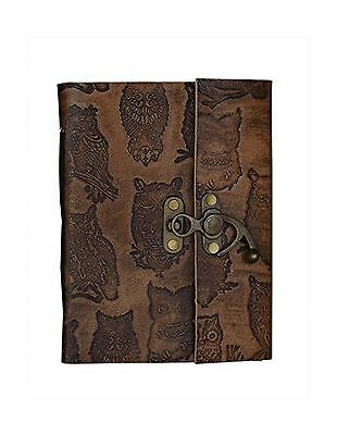 Mothers Day Gift Embossed Leather Blank Journal Personal Diary Compositio... New