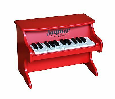Jaymar 25 Key Table Top Piano (Red) New