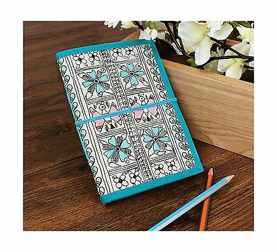 Store Indya Cardboard Unlined Journal Diary Crafted with Captivating Flor... New