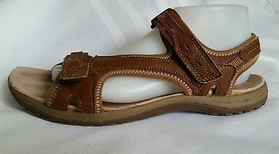 c073c341 NWT EARTH SPIRIT Women's Leather Sandal Casual Almond Brown - $25.82 ...