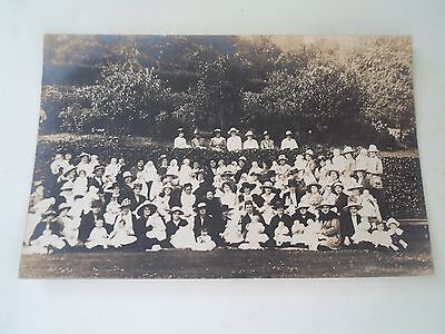 Vintage Real Photo Postcard Babies Garden Party Dated 1919 - Location to Rear