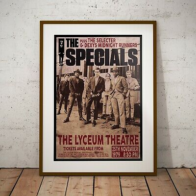 The Specials 1979 Early Concert Poster Framed or Three Print Options EXCLUSIVE
