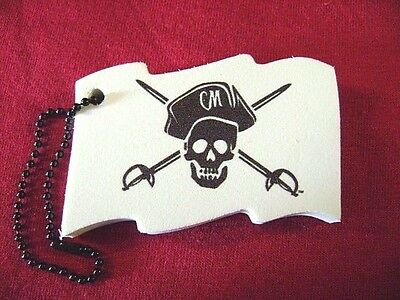 Captain Morgan White Rum Floating Key Chain Lot of 2 Skull and Cross Bones New