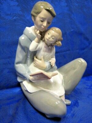 Read Me A Story Father & Girl Nao By Lladro   #1669