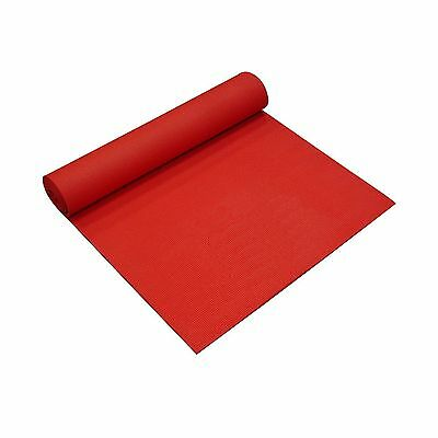 YogaDirect Thick Sticky Yoga Mat Red 1/8-Inch New