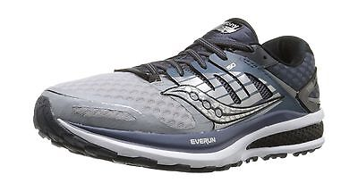 Saucony Men's Triumph ISO 2 Running Shoe Grey/White/Silver 8 M US New