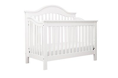 DaVinci Jayden 4-in-1 Convertible Crib with Toddler Rail, White