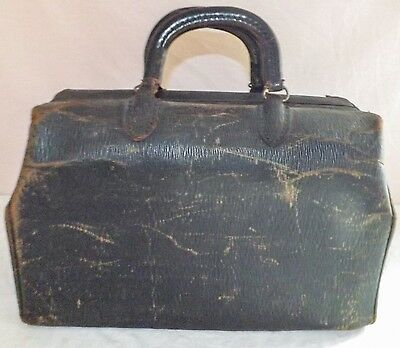 Antique/Vintage Early Tanner's Council of America Top Grain Cowhide Doctor's Bag