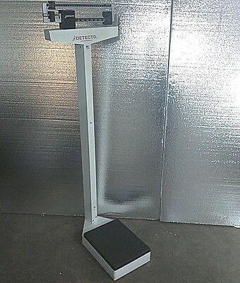 DETECTO PHYSICIAN DOCTOR FITNESS BALANCE BEAM SCALE 400 lb Model: 437 COMMERCIAL