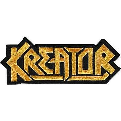 Official Licensed - Kreator - Logo Cut Out Sew On Patch Thrash Metal