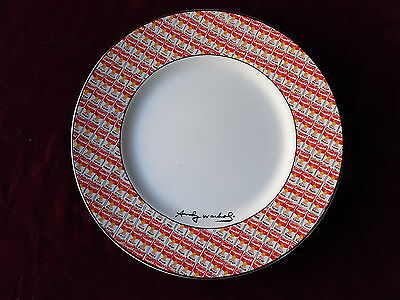 Andy Warhol Campbell's Soup Cans Dinner Plate, 100 Cans by Block, signed, unused