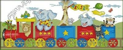 The train of happiness.14CT counted cross stitch. Craft brand new