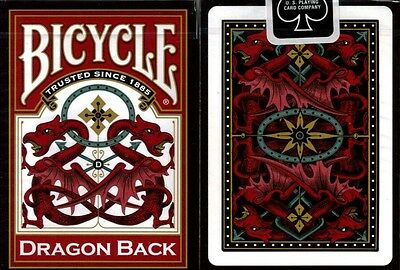 1 Deck Bicycle Dragon Back Red Standard Poker Playing Cards Deck