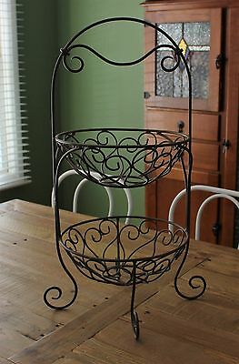 EVERYDAY LIVING 2 TIER FRUIT STAND ~ Excellent Condition!