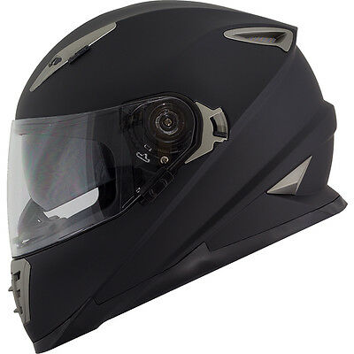 New DOT Motorcycle Helmet Duke DK-160 -- S/M/L/XL Dual Visor Matte Black