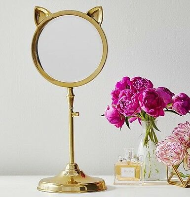 Pottery Barn Teen Desk Mirror Jewelry Stand Emily Merrit PB Kitty 🐱 Cat