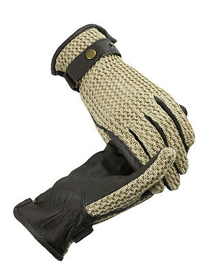 Horze Crocheted Riding Gloves - Horse Riding Gloves