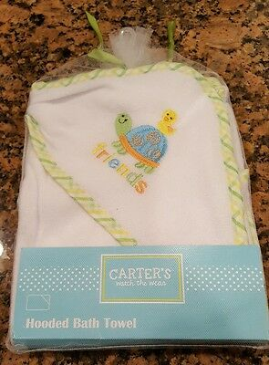 Carter's Hooded Bath Towel, Carter Watch and Wear, NEW