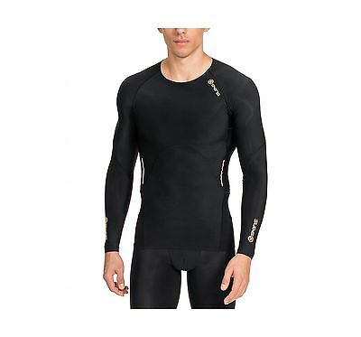 SKINS Men's A400 Long Sleeve Compression Top Black Large New