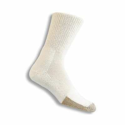 Thorlo Men's Socks Tennis Crew Sock White/Tan 13 New
