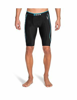 SKINS Men's A200 Compression Half Tights Black/Neon Blue XX-Large New