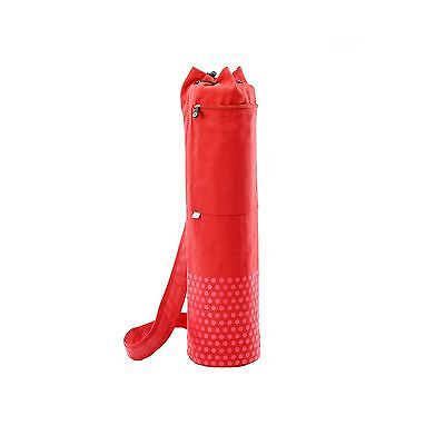 Pilates & Yoga Canvas Mat Bag Red New
