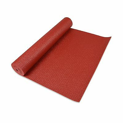 Dusky Leaf Deluxe Eco Yoga Mat - Red Terracotta Red New