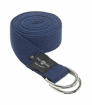 Hugger Mugger D-Ring Yoga Strap 10-Foot (Navy) New