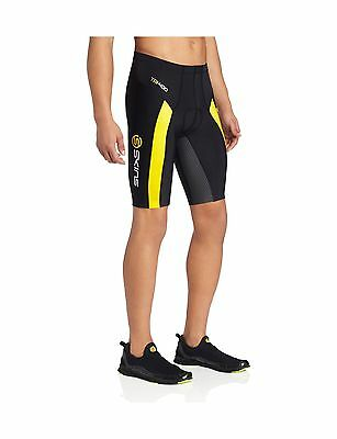 SKINS Men's TRI400 Compression Shorts Black/Yellow Medium New