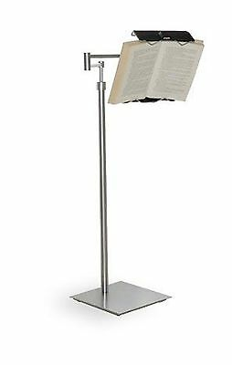 Lecco Book Holder Floor Stand (Hands Free Comfortable Reading) W/wheels New
