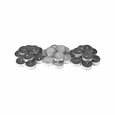 Ikea's Sinnlig Scented Tealight Candle Calming Spa Gray- (30 Pack) Grey New