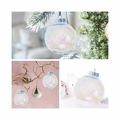 KI Store Clear Balls Ornaments with Twinkle Trim inside for Wedding Party... New