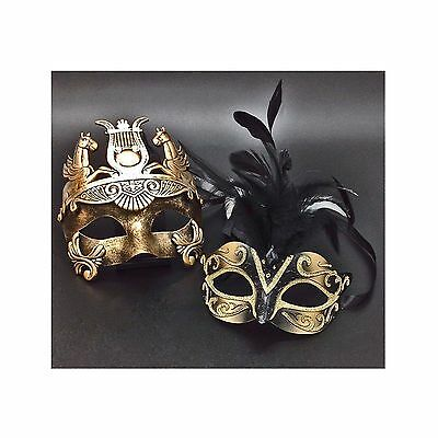 Venetian Couple Masks For Masquerade / Party / Ball Prom / Wedding New